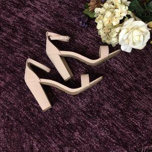 Nude single strap heels!!